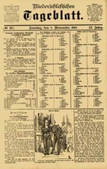Niederschlesisches Tageblatt, no 262 (Sonntag, den 8. November 1885)