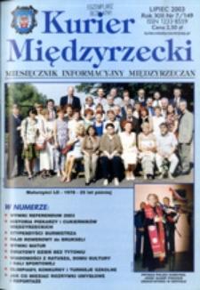 Kurier Międzyrzecki. Miesięcznik Informacyjny Międzyrzeczan, nr 7 (lipiec 2003 r.)
