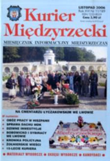 Kurier Międzyrzecki. Miesięcznik Informacyjny Międzyrzeczan, nr 11 (listopad 2006 r.)