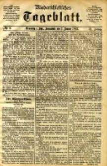 Niederschlesisches Tageblatt, no 6 (Grünberg i. Schl., Sonnabend, den 7. Januar 1893)