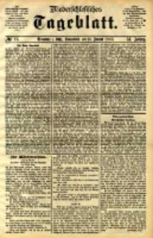 Niederschlesisches Tageblatt, no 12 (Grünberg i. Schl., Sonnbend, den 14. Januar 1893)