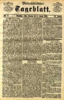 Niederschlesisches Tageblatt, no 19 (Grünberg i. Schl., Sonntag, den 22. Januar 1893)