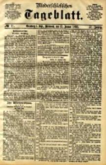 Niederschlesisches Tageblatt, no 21 (Grünberg i. Schl., Mittwoch, den 25. Januar 1893)