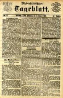Niederschlesisches Tageblatt, no 27 (Grünberg i. Schl., Mittwoch, den 1. Februar 1893)