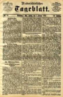 Niederschlesisches Tageblatt, no 29 (Grünberg i. Schl., Freitag, den 3. Februar 1893)