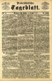 Niederschlesisches Tageblatt, no 84 (Grünberg i. Schl., Dienstag, den 11. April 1893)