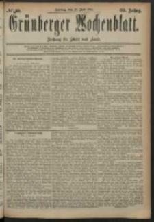Grünberger Wochenblatt: Zeitung für Stadt und Land, No. 89. (25. Juli 1884)