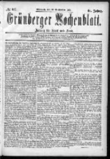 Grünberger Wochenblatt: Zeitung für Stadt und Land, No. 117. (30. September 1885)