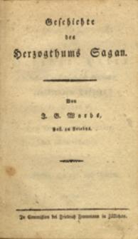 Geschichte des Herzogthums Sagan