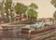 Nowa Sól / Neusalz; Partie mit Bootshaus