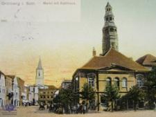 Zielona Góra / Grünberg; Markt mit Rathaus; Rynek z Ratuszem