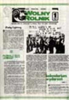 """Wolny Rolnik: informator NSZZ RI """"Solidarność"""" w Zielonej Górze: do użytku wewnętrznego, nr 1 (29.07.1981)"""