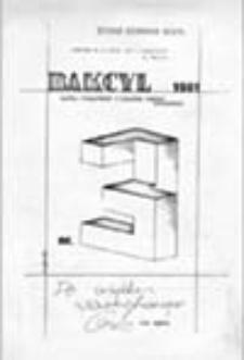 Bakcyl: gazeta niezależnych o wyraźnym profilu rozrywkowym, nr 3 (1981)