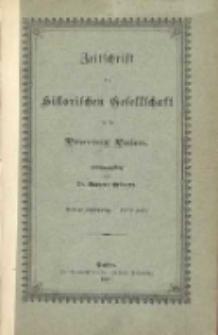 Zeitschrift der Historischen Gesellschaft für die Provinz Posen: Dritter Jahrgang. - Erßtes Heft.