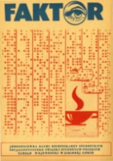 Faktor: jednodniówka Klubu Dziennikarzy Studenckich, 26 (czerwiec 1981)