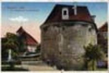 Kożuchów / Freystadt i.[n] Schl[esien]; Am Crossener Tor mit luth. Kirche