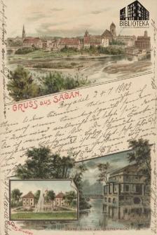 Żagań / Sagan; Gruss aus Sagan.