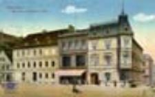 Świebodzin / Schwiebus; Marktseite mit Matzke's Hotel