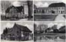 Wichów /  Weichau; Molkerei; Gasth. u. Fleischerei R. Gübner; Ev. Schule; Schloß Ob.-Weichau mit Teichpartie
