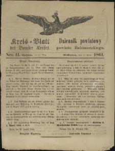 Kreisblatt des Bomster Kreises, Nro. 11. (15. März 1861)