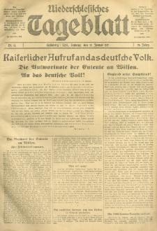 Niederschlesisches Tageblatt, no 11 (Sonntag, den 14. Januar 1917)