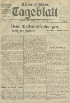 Niederschlesisches Tageblatt, no 77 (Sonntag, den 1, April 1917)