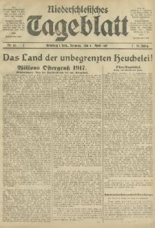 Niederschlesisches Tageblatt, no 82 (Sonntag, den 8. April 1917)
