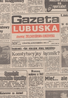 Gazeta Lubuska : magazyn środa : dawniej Zielonogórska-Gorzowska R. XLI [właśc. XLII], nr 58 (10 marca 1993). - Wyd. 1