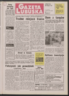 Gazeta Lubuska R. XLV [właśc. XLVI], nr 43 (20 lutego 1997). - Wyd. 1