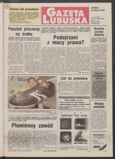 Gazeta Lubuska R. XLV [właśc. XLVI], nr 187 (12 sierpnia 1997). - Wyd. 1
