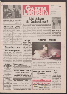 Gazeta Lubuska R. XLVI, nr 237 (10 października 1997). - Wyd. 1