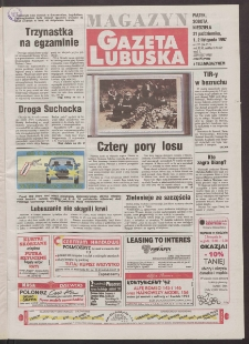 Gazeta Lubuska : magazyn R. XLVI, nr 255 (31 października/1/2 listopada 1997). - Wyd. 1