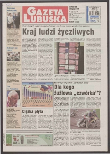 Gazeta Lubuska R. XLVIII [właśc. XLIX], nr 168 (20 lipca 2000). - Wyd. A