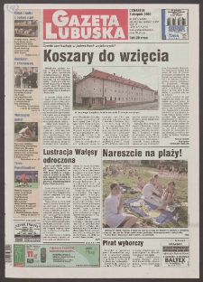 Gazeta Lubuska R. XLVIII [właśc. XLIX], nr 180 (3 sierpnia 2000). - Wyd. A