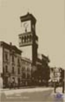 Żagań / Sagan; Der Rathausturm am Markt; Wieża ratuszowa na rynku