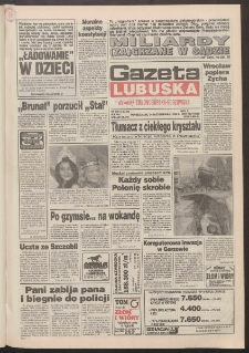 Gazeta Lubuska : dawniej Zielonogórska-Gorzowska R. XLII [właśc. XLIII], nr 249 (24 października 1994). - Wyd. 1
