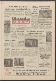 Gazeta Lubuska : dawniej Zielonogórska R. XXXIX [właśc. XL], nr 65 (18 marca 1991). - Wyd. 1
