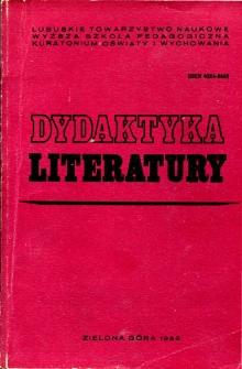 Dydaktyka literatury, t. 6 - spis treści