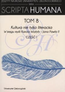 Kultura nie tylko literacka: w kręgu myśli Karola Wojtyły - Jana Pawła II. Część 1