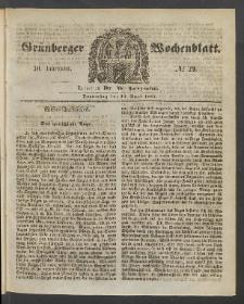 Grünberger Wochenblatt, No. 29. (13. April 1854)