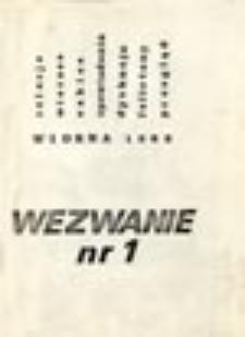 Wezwanie: niezależne pismo literackie: nr 1 (wiosna 1982)