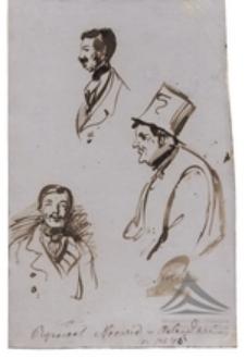 Szkice męskich popiersi