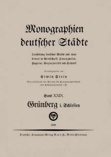 Die Stadt Grünberg i[n] Schlesien