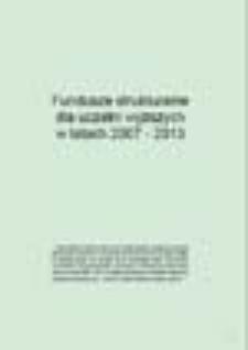 Fundusze strukturalne dla uczelni wyższych w latach 2007 - 2013