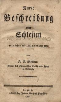Kurze Beschreibung von Schlesien