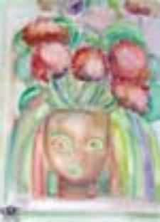Kwitnąca pelargonia
