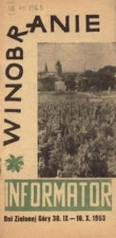 Dni Zielonej Góry 1963: informator