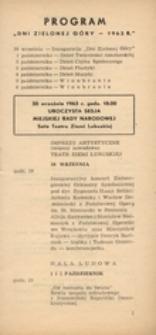 """Program """"Dni Zielonej Góry - 1963 r."""""""
