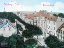 Zielona Góra / Grünberg; Bismarckstraße; ul. Chrobrego, rok 1911