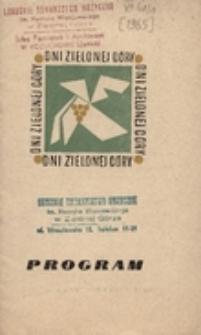 Dni Zielonej Góry: program [1965 r.]